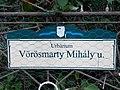 Street sign, Vörösmarty Street, Urbárium, 2020 Százhalombatta.jpg
