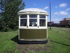 Saskatchewan Railway Museum - Saskatoon Municipal Railway streetcar No. 40 at Saskatchewan Railway Museum.