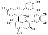 Chemical structure of procyanidin B2