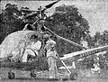 Sukarno in his helicopter Harian Umum 19 January 1951 p1.jpg