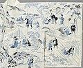 Summer Kimono (Yukata) with Illustrations from the 1802 novel 'Hizakurige' (Shank's Mare) by Ikku Jipensha (1765-1831) LACMA M.2006.37.6 (7 of 9).jpg