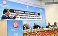 Suresh Prabhakar Prabhu delivering the keynote address at the National Conference on Accounting Reforms in Indian Railways 'A Strategic Mission for Sustainable Growth'.jpg