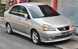 Suzuki Aerio - Image: Suzuki Baleno (Aerio) (front), Denpasar