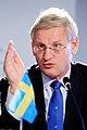 Sveriges utrikesminister Carl Bildt under Nordiska Radets session i Reykjavik pa Island 2010-11-03 (2).jpg