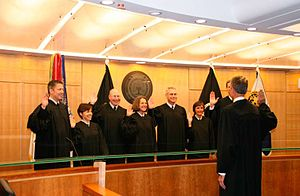 United States Court of Military Commission Review - Image: Swearing in the Court of Military Commission Review