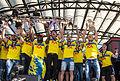 Sweden national under-21 football team celebrates in Kungsträdgården 2015-4.jpg