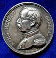 Swiss Medal Hans Herzog, Switzerland's General during the Franco-Prussian War 1870 - 1871, obverse.jpg
