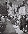 THE WAILING WALL (WESTERN WALL) IN THE OLD CITY OF JERUSALEM IN (COURTESY OF AMERICAN COLONY). מתפללים בכותל המערבי בעיר העתיקה בירושלים.D826-043.jpg