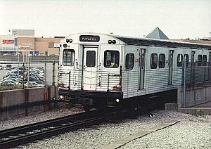 Line 2 Bloor–Danforth -  An M-1 series subway train, one of the first trains to operate on the Bloor–Danforth line