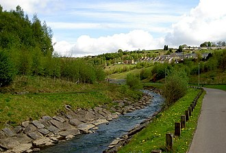 Taff Bargoed - Image: Taff Bargoed river Looking North geograph.org.uk 1296258