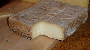 Taleggio cheese - A block of Taleggio