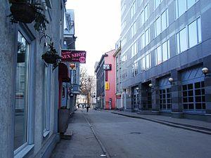 Tatari, Tallinn - Tatari street near the Freedom Square.