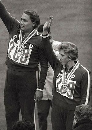 Galina Zybina - Tamara Press and Galina Zybina (right) at the 1964 Olympics