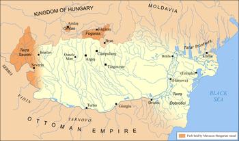 Wallachia and possessions, ca. 1390