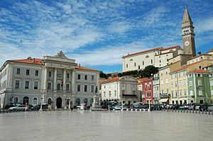Piran - Tartini Square as it appears today