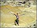 Tectonic dislocation of lake sandy clays Altai.jpg