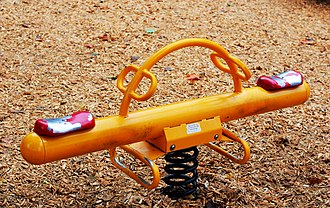 Seesaw - A seesaw or teeter-totter in a children's playground in Ottawa, Ontario