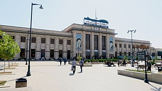 Tehran railway station Railway station in Tehran,Iran