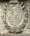 Telč Schloss - Fassade 3 Wappen Waldstein.jpg
