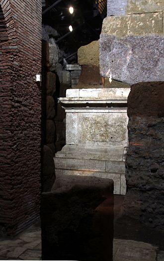 Temple of Veiovis - Remains of the Templum Veiovi beneath the Tabularium