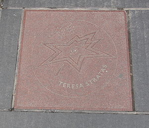 Teresa Stratas - Stratas' star on Canada's Walk of Fame