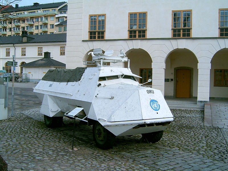 Preserved SKPF, repainted in the UN peace keeping livery to commemorate the operations in Congo in the early 1960s (for veteran's day), at the army museum at Stockholm - Credits: Wikipedia
