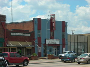 Terrell, Texas - Iris Theatre in downtown Terrell