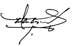 Chatichai Choonhavan - Image: Thai PM chartchai signature