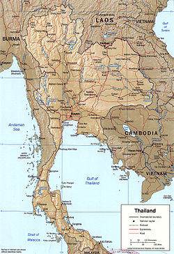 geography of thailand wikipedia