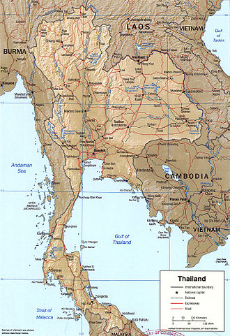 Geography of Thailand - Detailed map of Thailand
