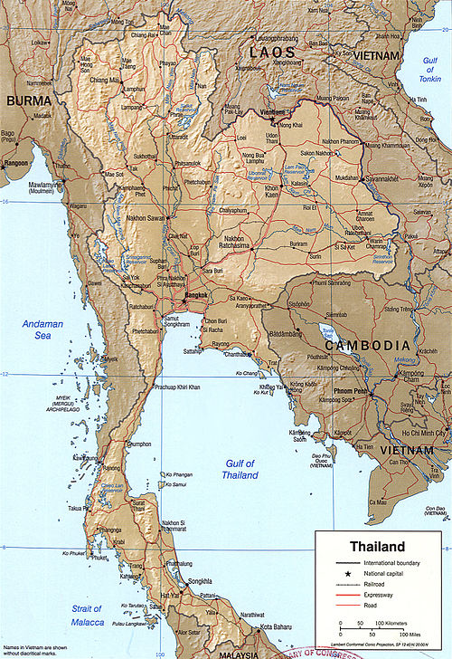detailed maps of thailand - HD1373×2000