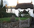Thatched cottage, with topiary, High Street, Ide - geograph.org.uk - 1081210.jpg