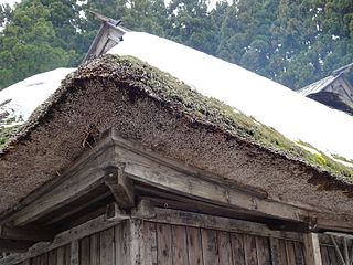 Thatched Roof With Snow, Japan