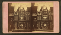 The 8th Wonder or Engle Clock, and its builder. Copyrighted, 1878, by Capt. J. Reid, from Robert N. Dennis collection of stereoscopic views.png