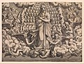 The Apostles looking at Christ and the Virgin in a Glory of Angels (top left plate) MET DP366441.jpg