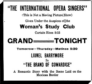 The Brand of Cowardice - a contemporary newspaper advertisement