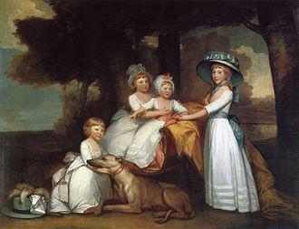 Hugh Percy, 2nd Duke of Northumberland - The Children of the Second Duke of Northumberland, oil on canvas, Gilbert Stuart, 1787.