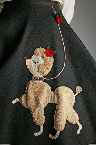 A poodle skirt from the 1950s