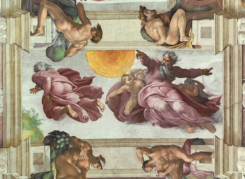 Файл:The Creation of the Sun and the Moon, Michelangelo (1508-1512).jpg
