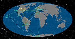 The Event Horizon Telescope and Global mm-VLBI Array on the Earth.jpg