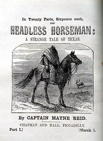 Headless Horseman - Cover page to Mayne Reid's version of the legend, published in 1865