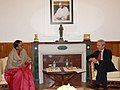 The High Commissioner of Britain in India, Sir Richard Stagg, KCMG calls on the Speaker, Lok Sabha, Smt. Meira Kumar, at Parliament House, in New Delhi on December 23, 2010.jpg