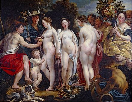 The Judgment of Paris, between 1620 and 1625. The Judgment of Paris - Jacob Jordaens.jpg