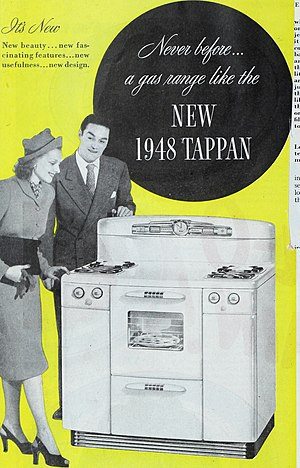 Tappan (brand) - Tappan gas range (1948 advertiement)
