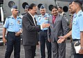 The Minister of State for Defence, Dr. Subhash Ramrao Bhamre arrives at HQ Eastern Air Command, in Shillong on October 09, 2017.jpg