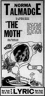 <i>The Moth</i> (1917 film) 1917 film by Edward José