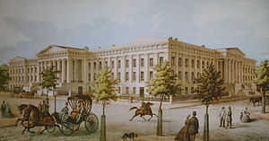1836 U.S. Patent Office fire - The Patent Office, c. 1855