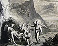 The Phillip Medhurst Picture Torah 619. The death of Moses. Deuteronomy cap 34 vv 5-6. Mortier.jpg