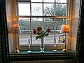 The Plough in Lower Beeding, West Sussex, England, sash window and windowsill.jpg
