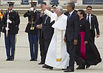 The Pope Arrives at Joint Base Andrews (22050526261).jpg